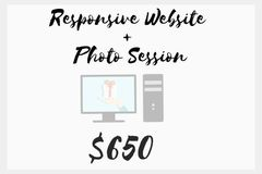 OFFERS General: Responsive Website + Photo Session